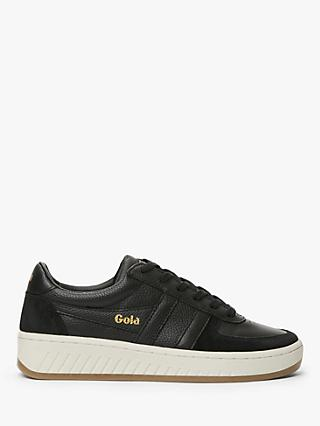 Gola Grandslam Leather Trainers, Black