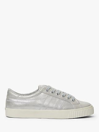 Gola Tennis Mark Cox Metallic Trainers, Silver