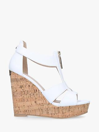 Carvela Krass Wedge Heel Sandals, White