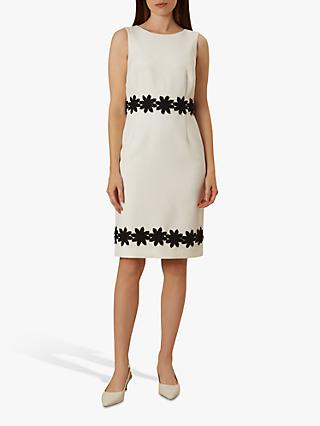 Hobbs Louise Pencil Dress, Ivory