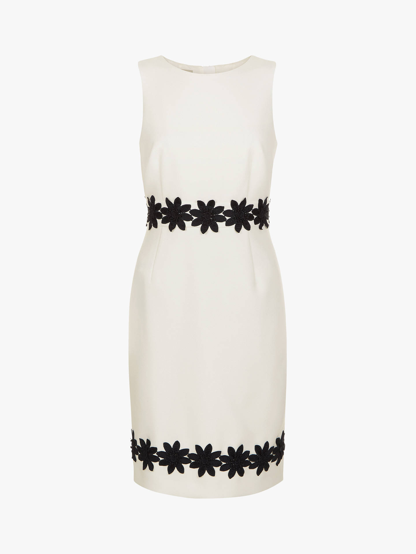 Buy Hobbs Louise Pencil Dress, Ivory, 10 Online at johnlewis.com