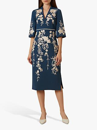 Hobbs Siobhan Dress, Cambridge Blue