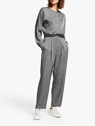 Buy Modern Rarity Jacquard Utility Jumpsuit, Grey, 8 Online at johnlewis.com