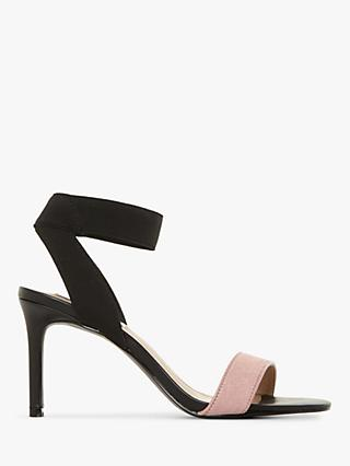 Steve Madden Fondu Two Part Heeled Sandals, Black/Pink