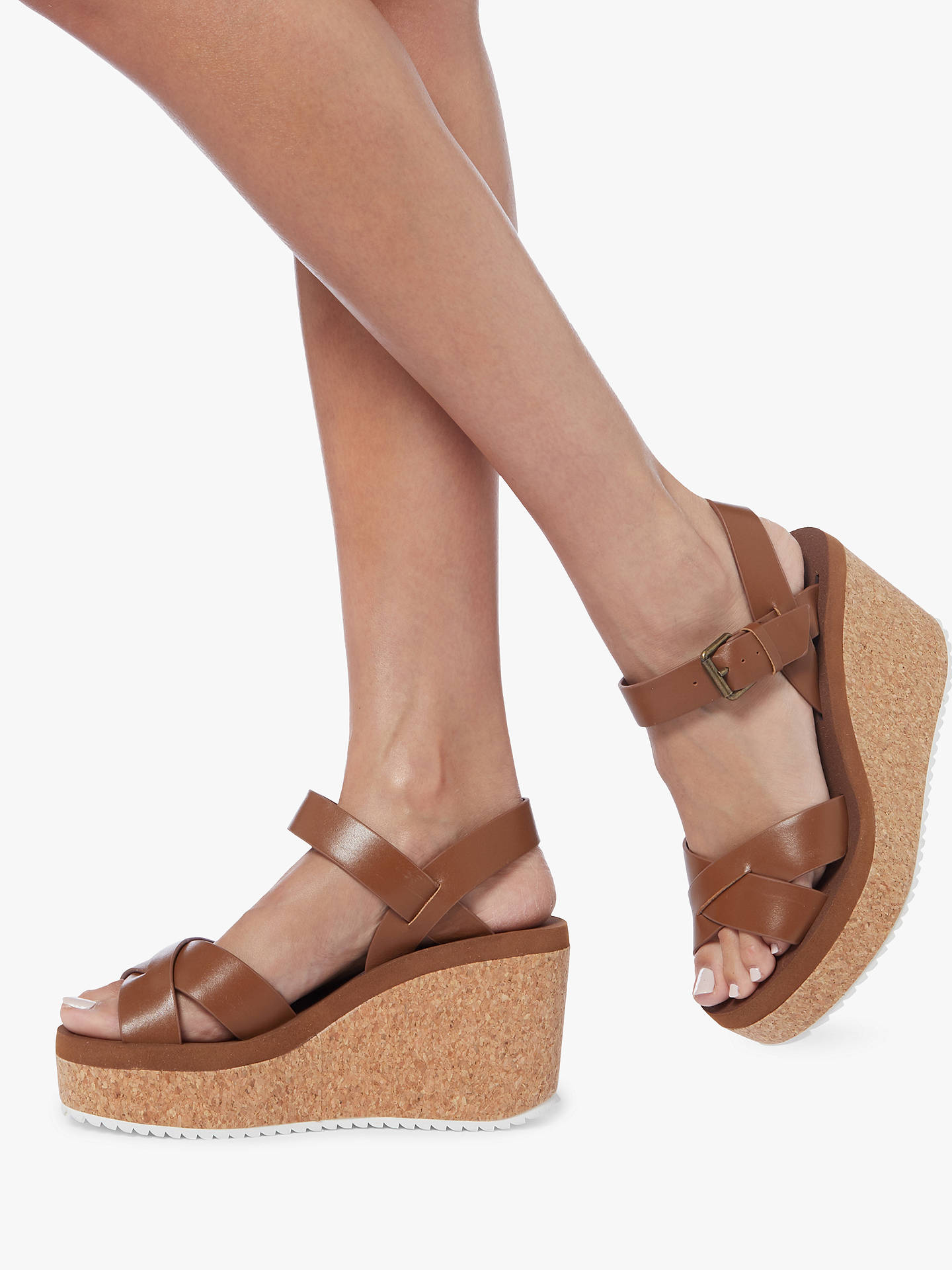 clearance sale official store new styles Steve Madden Gypsie Cork Wedge Sandals at John Lewis & Partners