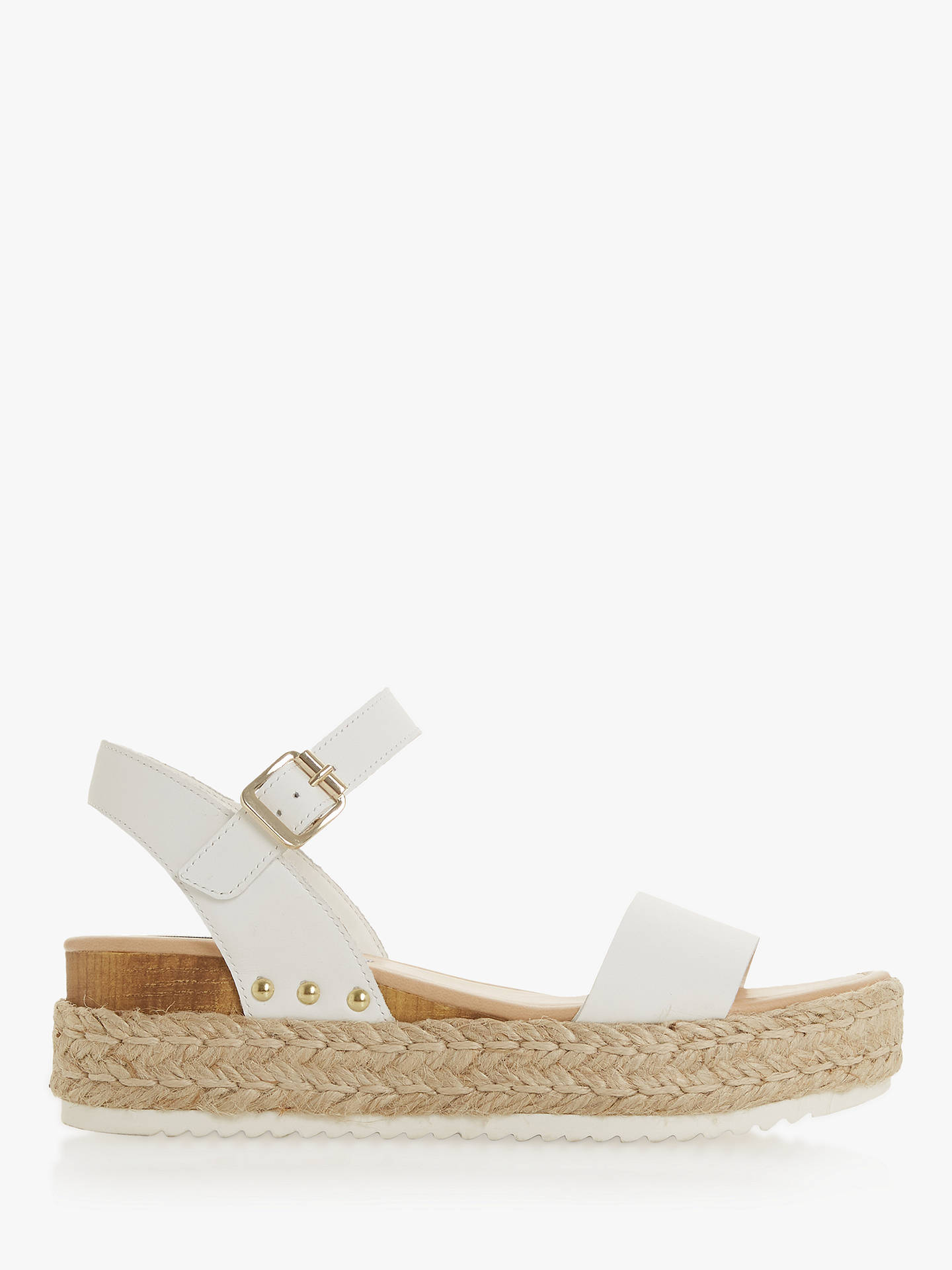 5b9dedce1 Buy Steve Madden Chiara Sandals, White Leather, 3 Online at johnlewis.com  ...