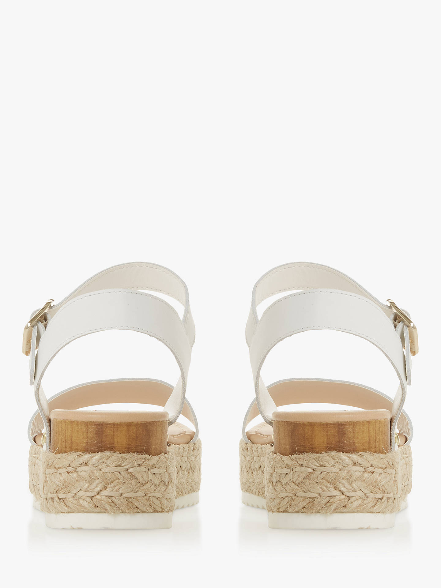 26f76d053 ... Buy Steve Madden Chiara Sandals, White Leather, 3 Online at  johnlewis.com
