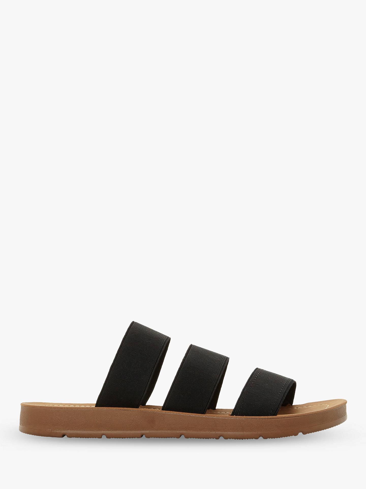 d27a63641eb Steve Madden Pascale Slip On Flat Sandals, Black