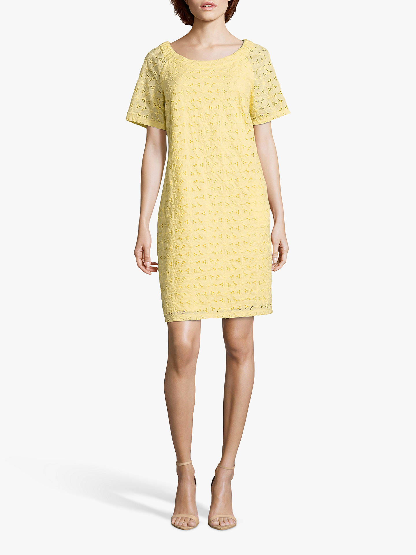 Buy Betty Barclay Broderie Anglaise Cotton Dress, Sunshine, 14 Online at johnlewis.com