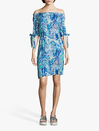 Betty Barclay Paisley Print Dress, Blue/Green