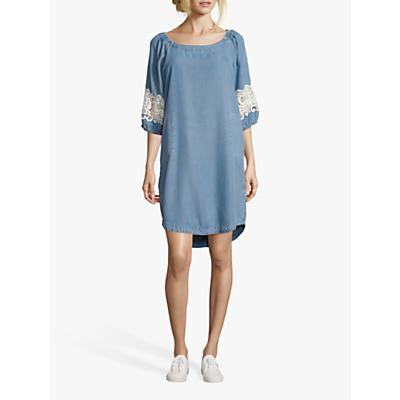 Betty Barclay Denim Effect Shift Dress, Light Blue