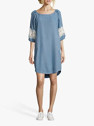 Betty Barclay Denim Effect Shift Dress, Light Blue