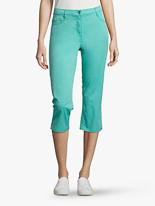 Betty Barclay Stretch Cotton Cropped Jeans, Blue Turquoise