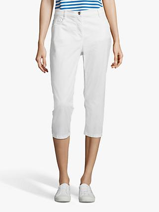 Betty Barclay Stretch Cotton Cropped Jeans, Bright White