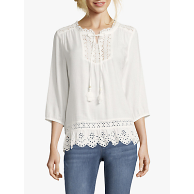Betty Barclay Broderie Anglaise Tunic, Off White