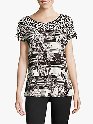 Betty Barclay Graphic Print Top, Black/White