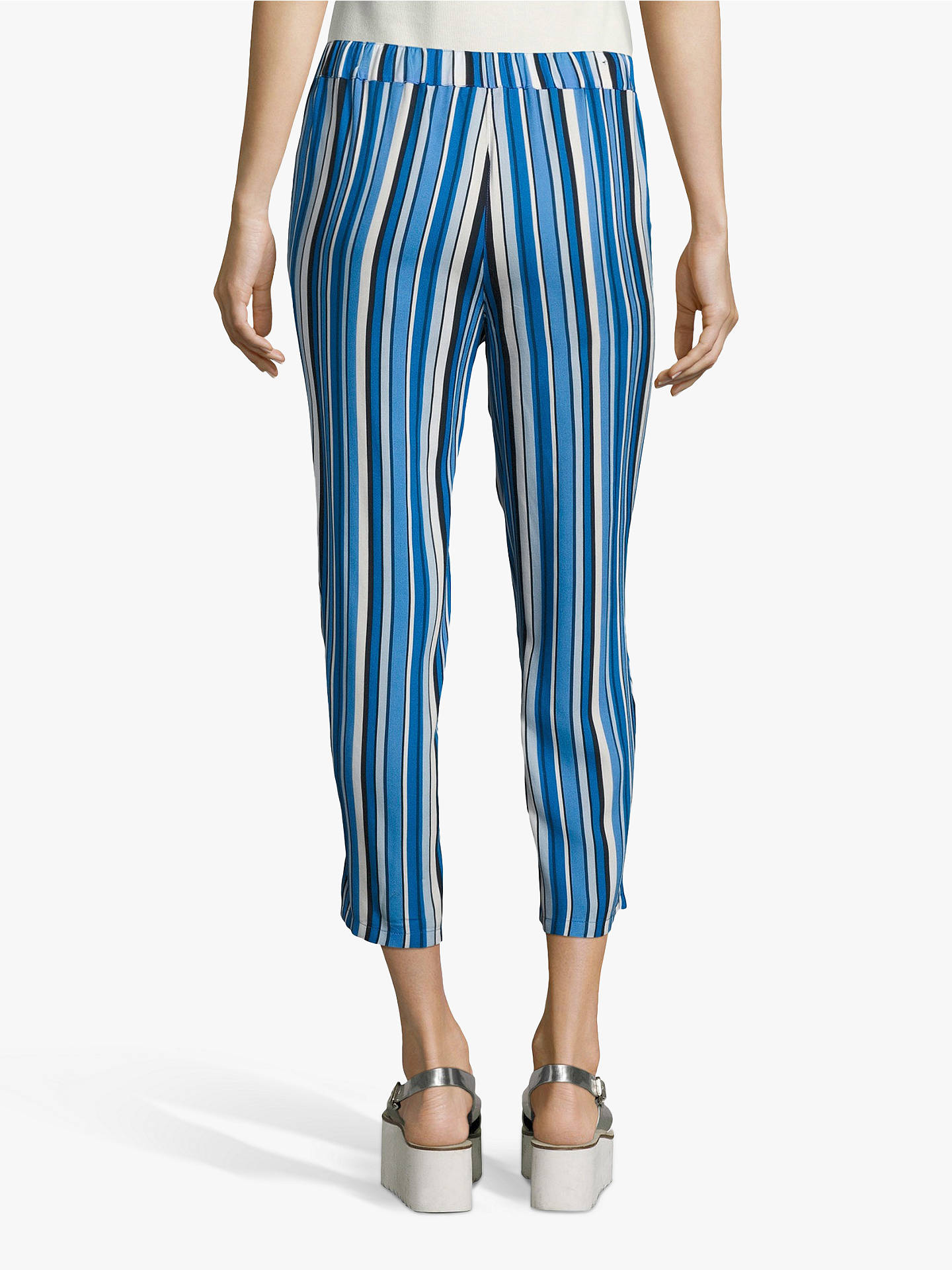 Buy Betty Barclay Cropped Stripe Trousers, Dark Blue/Blue, 16 Online at johnlewis.com