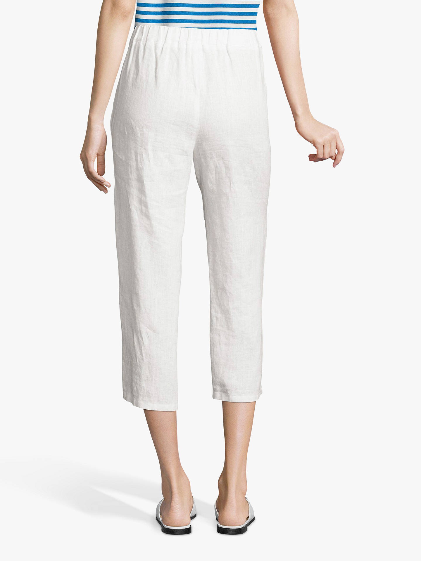 Buy Betty Barclay Cropped Trousers, Bright White, 14 Online at johnlewis.com