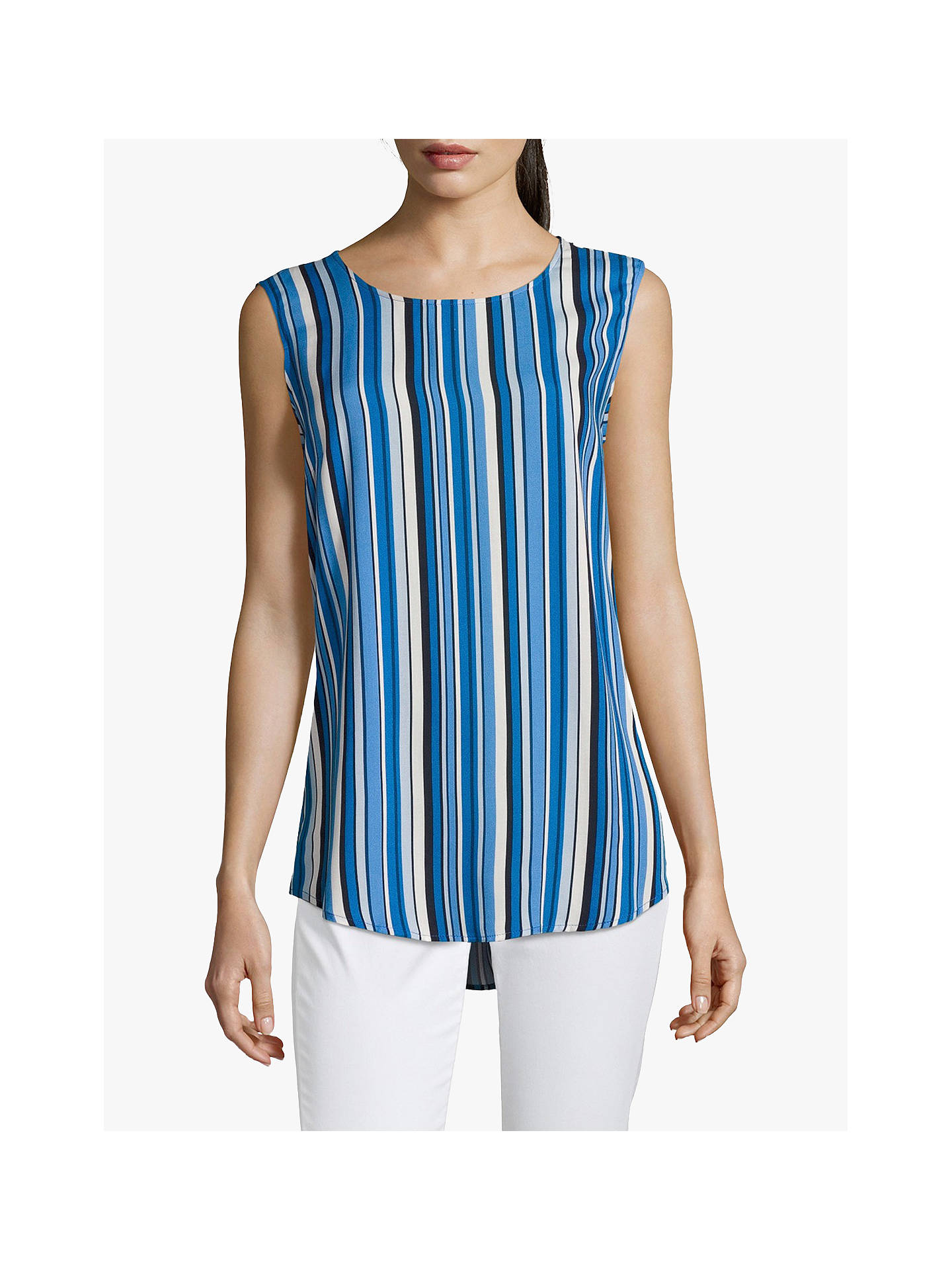 Buy Betty Barclay Striped Cut Out Sleeveless Top, Dark Blue, 16 Online at johnlewis.com