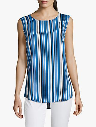 Betty Barclay Striped Cut Out Sleeveless Top, Dark Blue