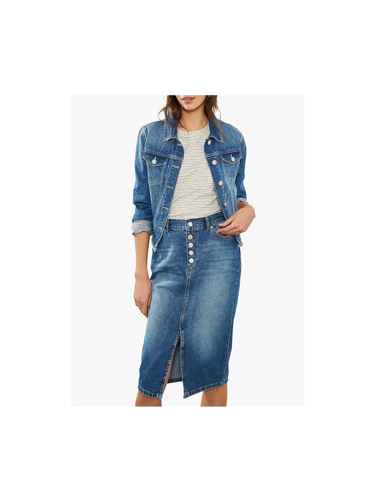 9d3cee192b221 Buy Mint Velvet Denim Jacket, Blue, 6 Online at johnlewis.com ...
