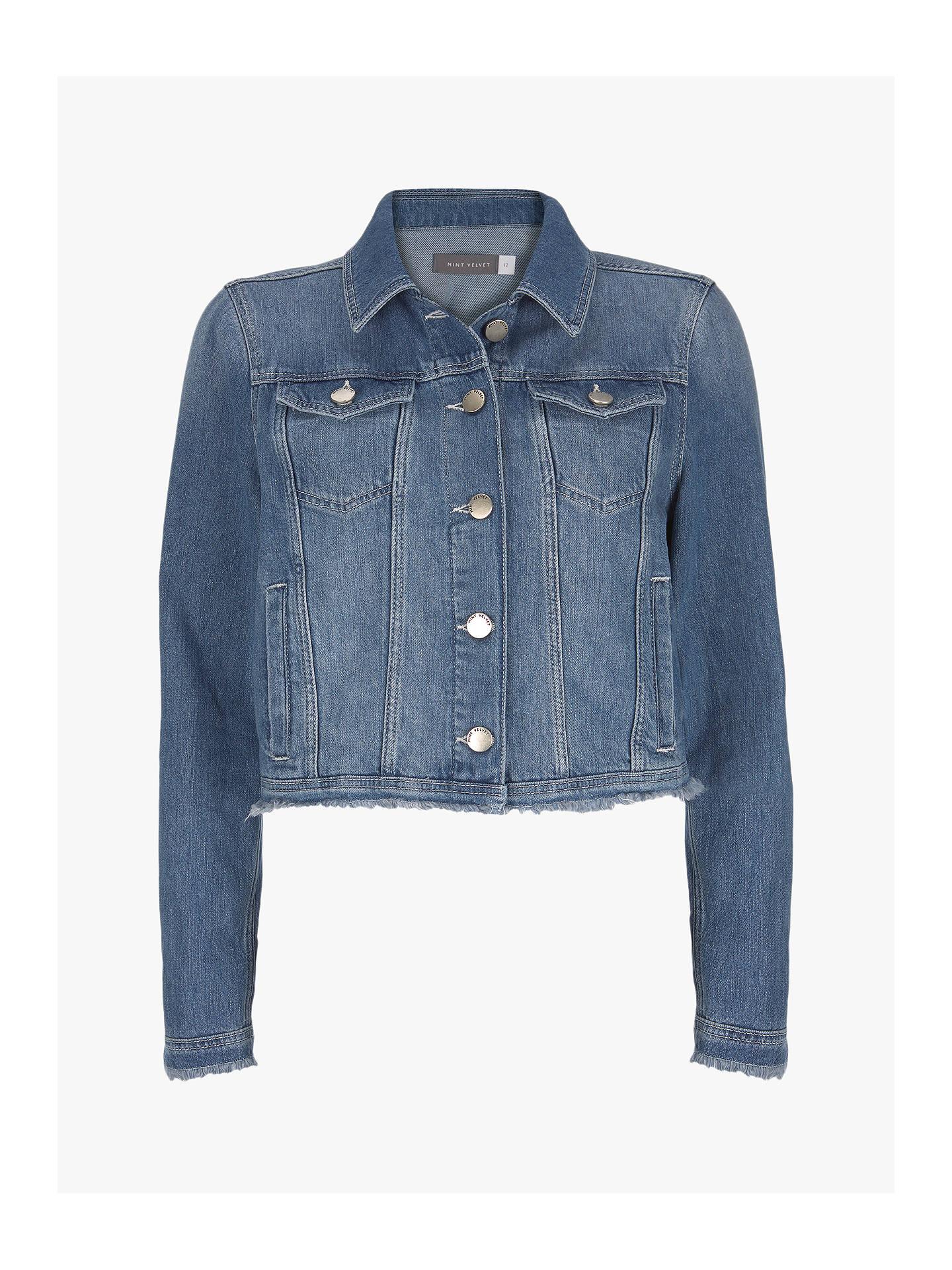 14ffd4fd95f1e ... Buy Mint Velvet Denim Jacket, Blue, 6 Online at johnlewis.com ...