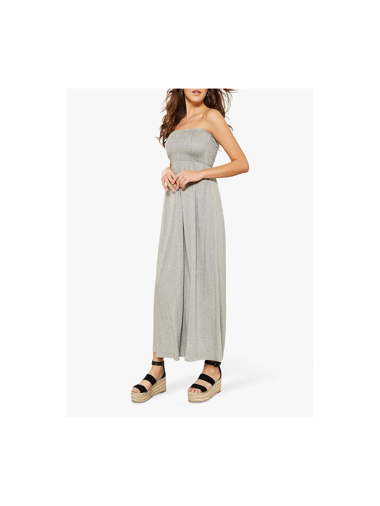 60d2e3840d1 Buy Mint Velvet Grey Jersey Bandeau Maxi Dress, Grey, 6 Online at johnlewis.