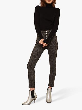 9bf69452599 Mint Velvet Joilet Leopard Buttoned Jean