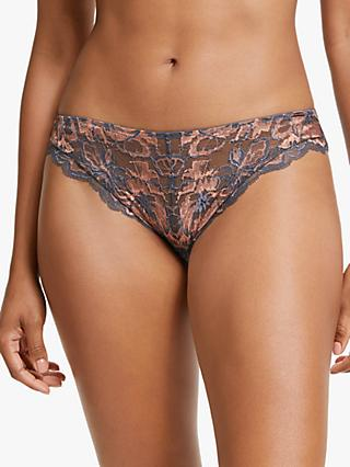 Modern Rarity Helene Lace Bikini Briefs, Pewter