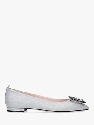 SJP by Sarah Jessica Parker Divinity Buckle Flat Pumps, Silver