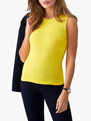 Pure Collection Knitted Tank Top, Yellow