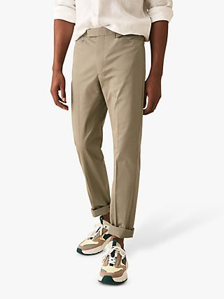 Reiss Shank Plain Slim Fit Cotton Trousers