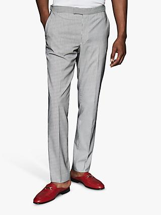 Reiss Hoffman Stripe Casual Trousers, Ecru