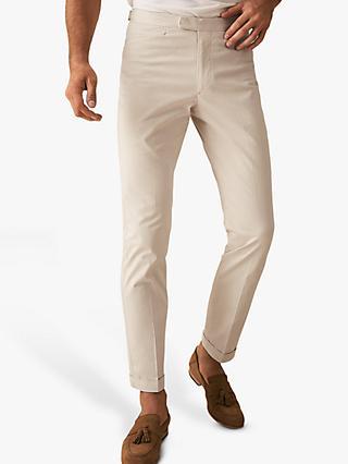 42f1074cd83 Reiss Shank Plain Slim Fit Cotton Trousers