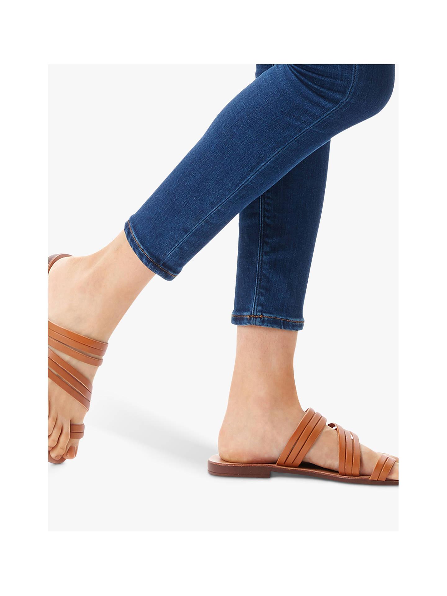6da0d3cf2b4b Kurt Geiger London Deliah Multi Strap Flat Sandals at John Lewis ...