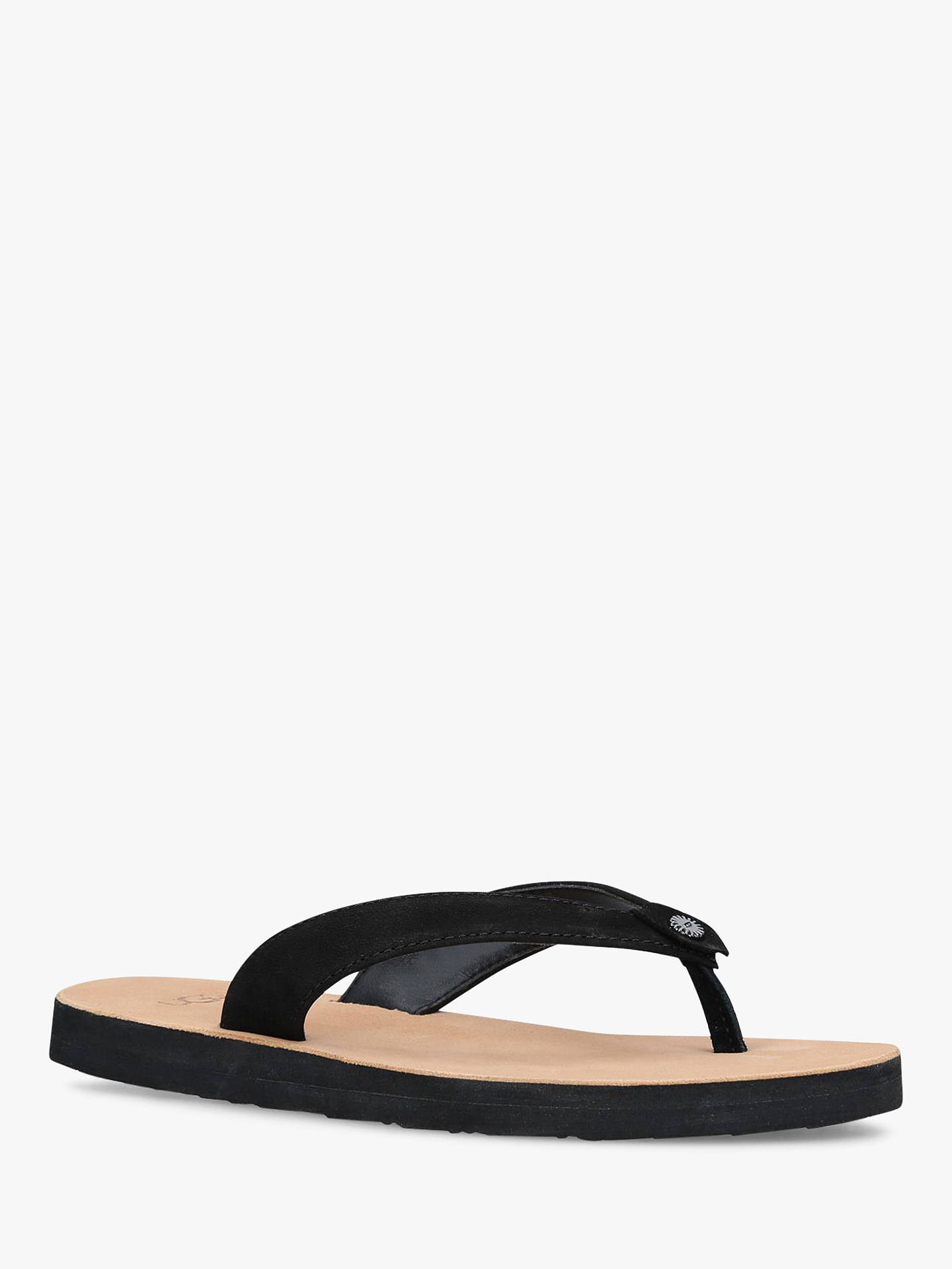 UGG Tawney Flip Flops | Black at John Lewis & Partners