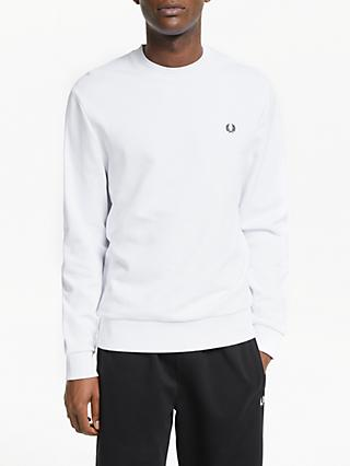 Fred Perry Terry Laurel Back Sweatshirt, White
