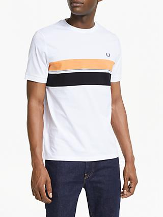 df38808d Fred Perry Striped Colour Panel Crew Neck T-Shirt