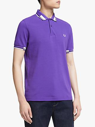 507511da5 Fred Perry Abstract Block Tipped Polo Shirt