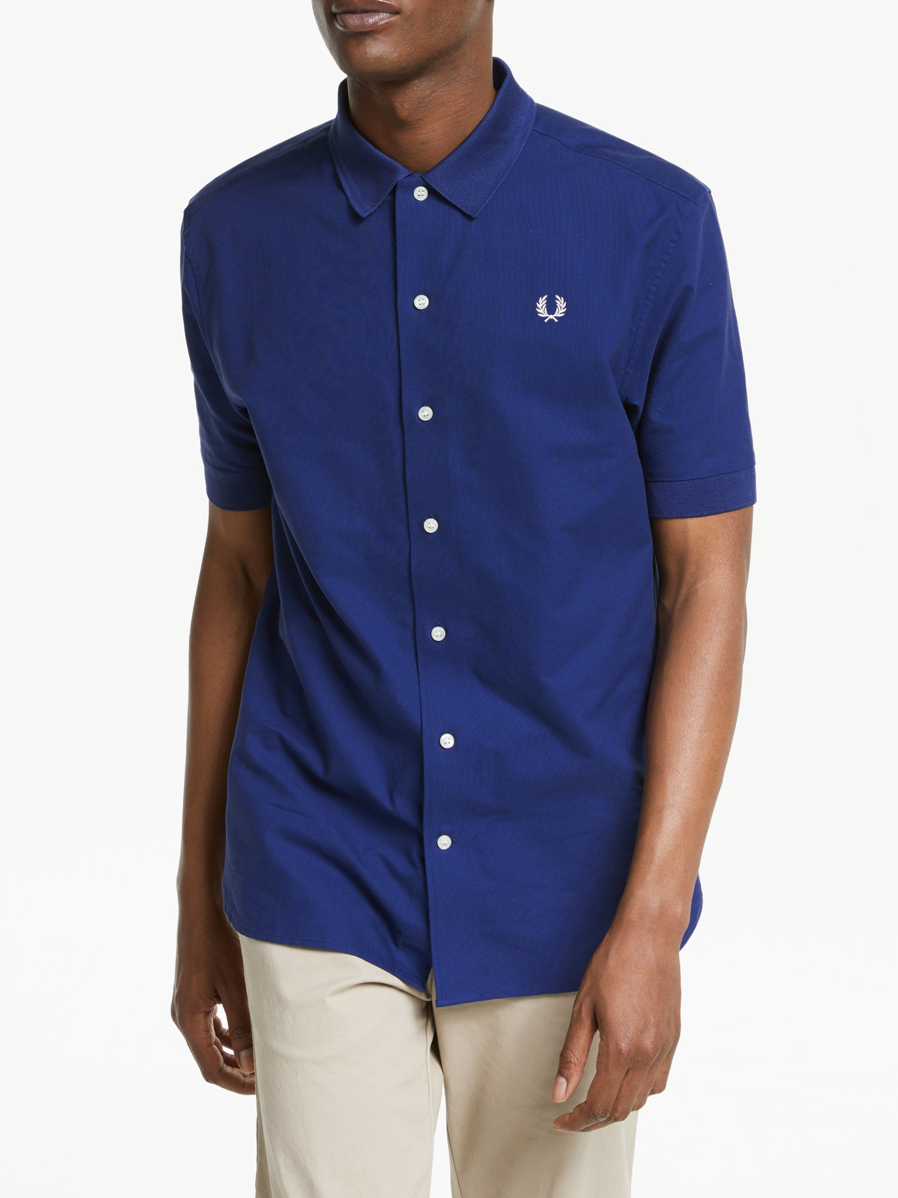 Fred Perry Classic Oxford Short Sleeve Shirt, French Navy at