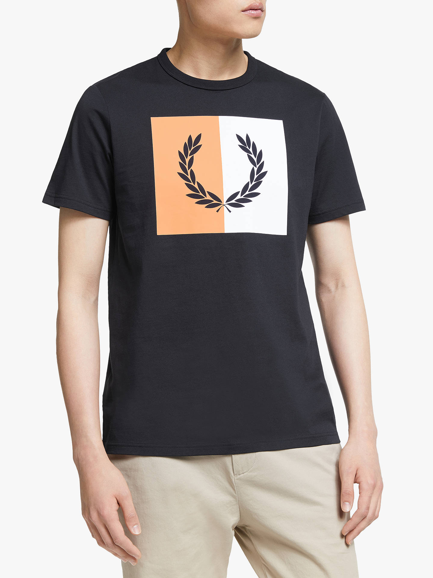 dbeed511 Fred Perry Split Laurel Wreath T-Shirt, Navy