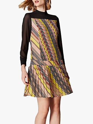 Karen Millen Layered Pleat Dress, Multi