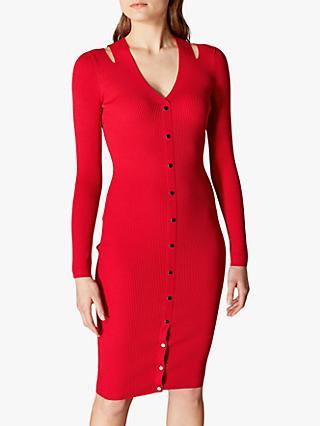 bfd7d4634277 Karen Millen Ribbed Bodycon Dress