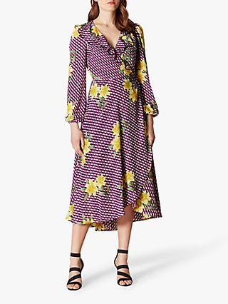 Karen Millen Geometric Floral Dress, Multi