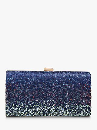 Carvela Lovebird Embellished Clutch, Navy Blue