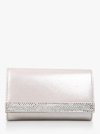 Carvela Kink Clutch Bag, Silver
