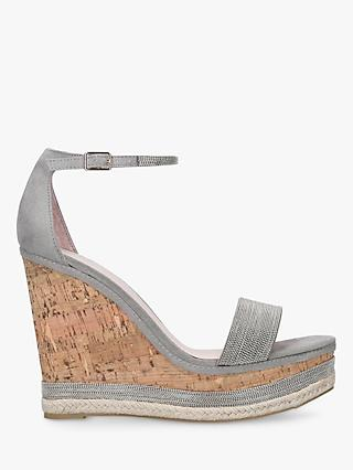 Carvela Kould High Wedge Sandals, Grey Suede