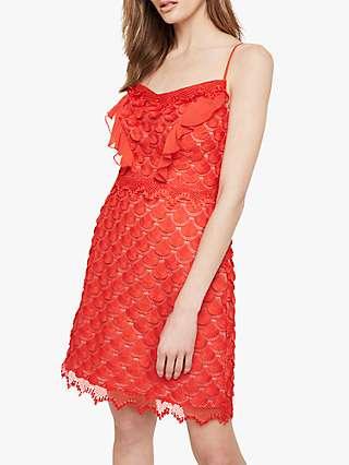 Damsel in a Dress Breana Lace Dress, Red/Nude