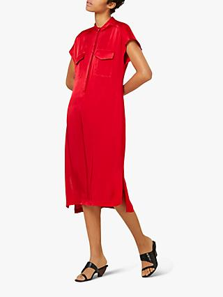 Finery Macie Dress, Red