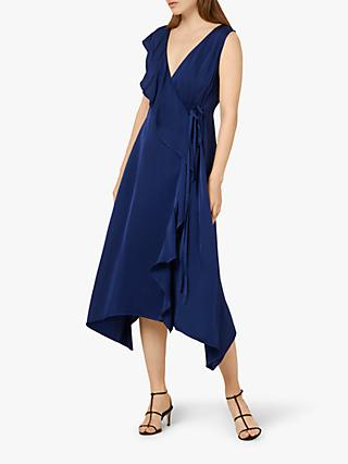 Finery Layla Wrap Dress, Navy